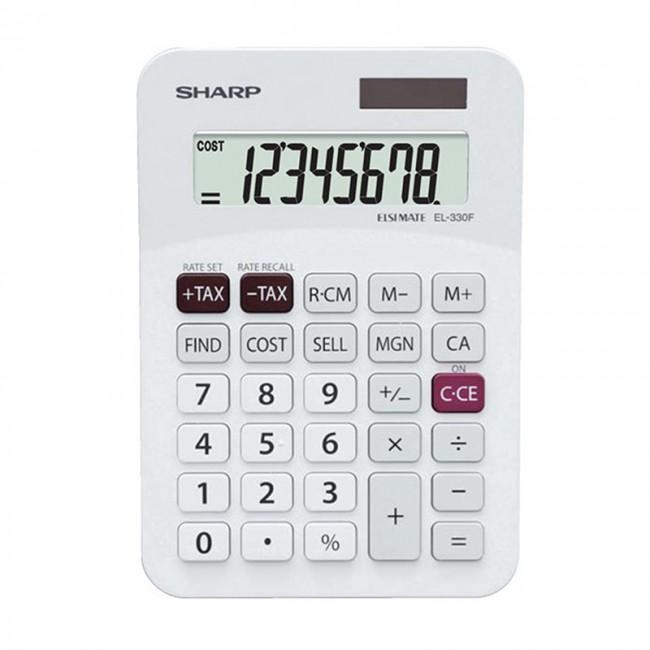 Sharp El 330f El330ab Mini Desk Calculator